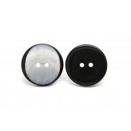 Bouton gris à bord noir