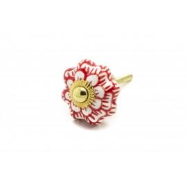 Poignée fleur à motifs