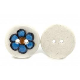 Bouton fleur bleue