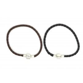 Bracelet Pandora en cuir