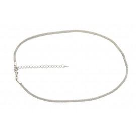 Collier chaîne 42cm - 50cm avec extension