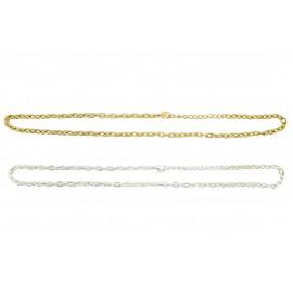 Collier chaîne 43cm - 48cm avec extension