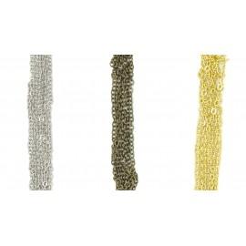 Chaîne métal à maille ovale, par 10cm