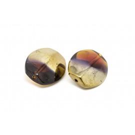Perle ovale chromée