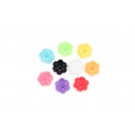 Rocaille fleurs multicolores, à la cuillère
