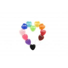 Rocaille coeurs multicolores, à la cuillère