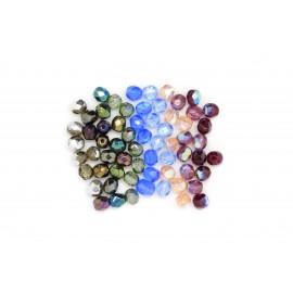 Perle facettée irisée 5mm, à la cuillère