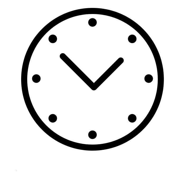 Icône horaires. Created by Frederico Panzano for The Noun Project